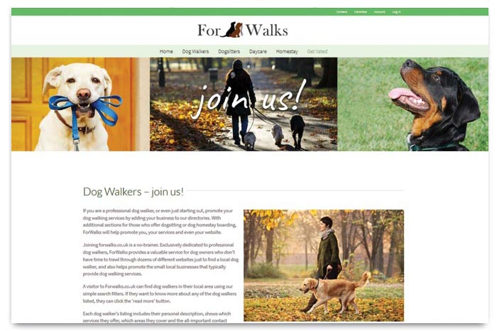 ForWalks - Dog Walker Directory